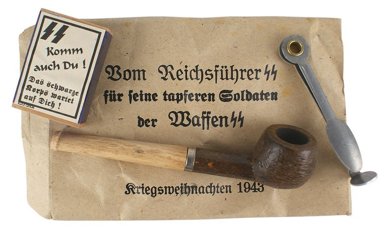 Christmas pipe German WWII Waffen-SS