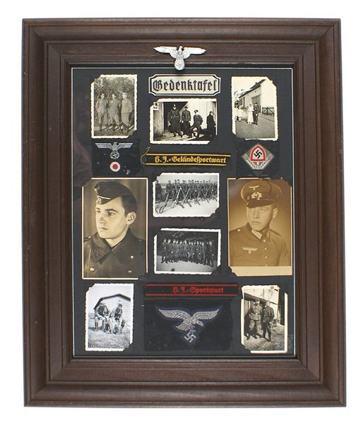 German WWII Youth Corps RAD lot framed