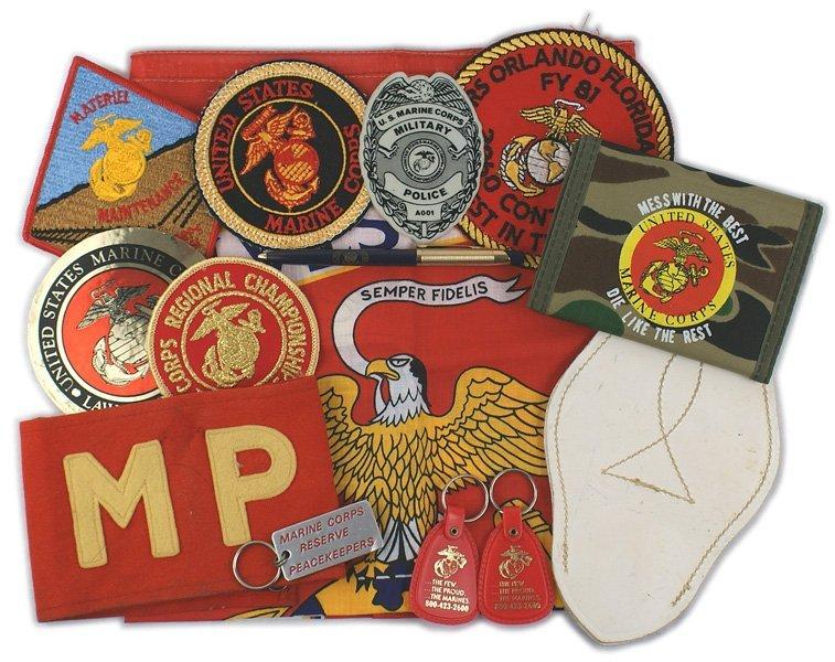 Lot of USMC post war items Marines