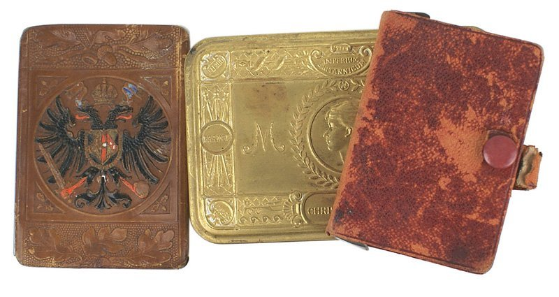 British WWI lot biscuit box playing cards