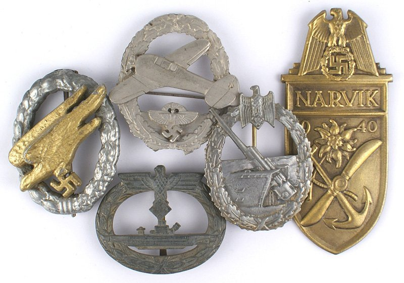 Lot of German WWII reproduction badges
