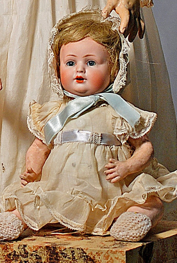 6. SWEET GERMAN BISQUE CHARACTER BABY BY BAHR &