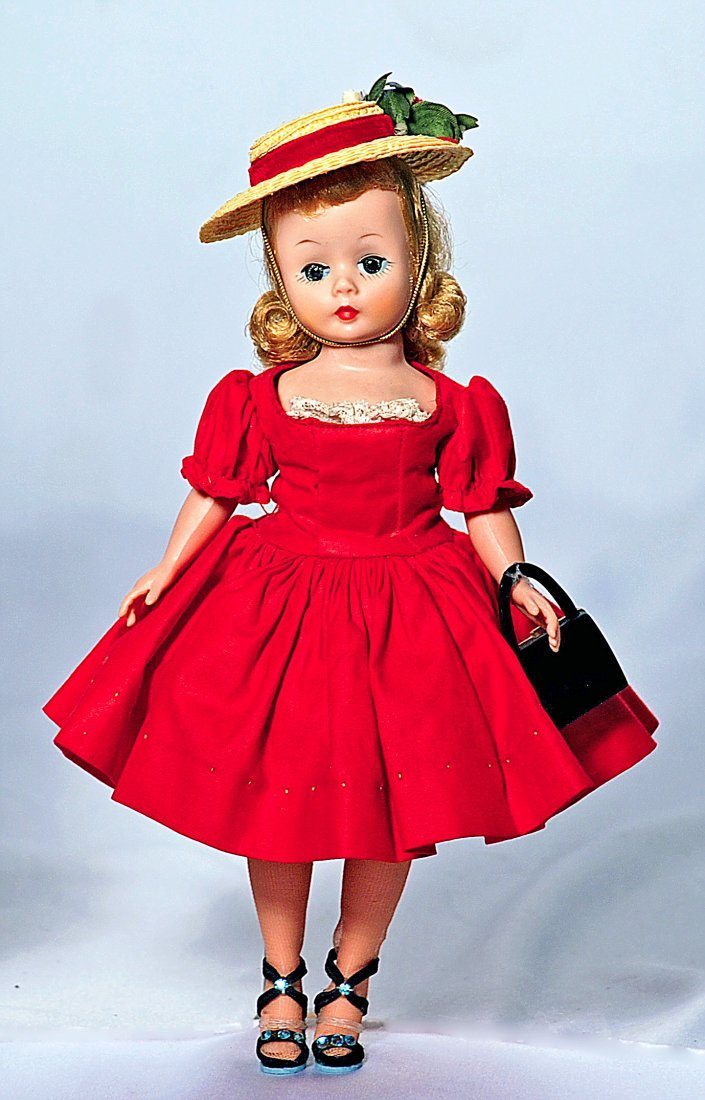 "92-A.  ALEXANDER CISSETTE IN RED DRESS.  10"".  All-hard"