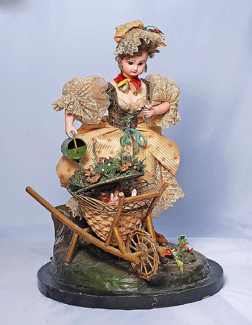 103. RARE FRENCH BISQUE AUTOMATON BY VICHY WITH JUMEAU