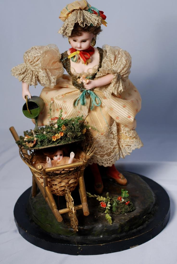 103. RARE FRENCH BISQUE AUTOMATON BY VICHY WITH JUMEAU - 2