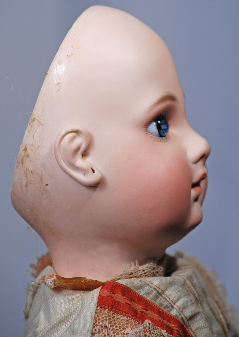 120.  EARLY FRENCH BISQUE PORTRAIT BEBE BY JUMEAU. - 4