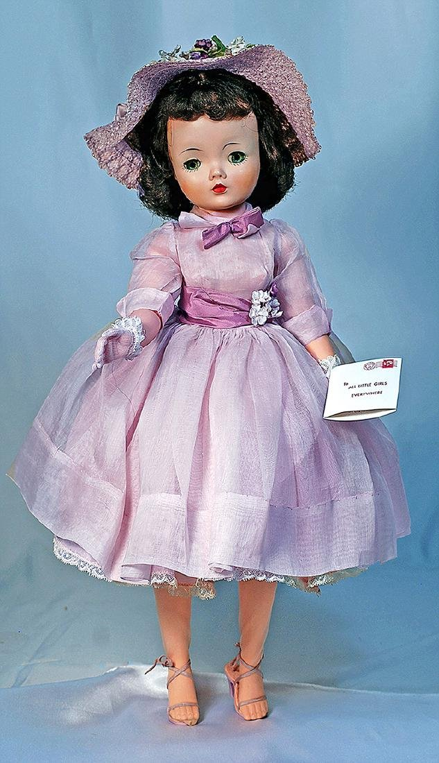 "157.  CISSY IN LAVENDER ORGANDY DRESS.  20"".  Hard"
