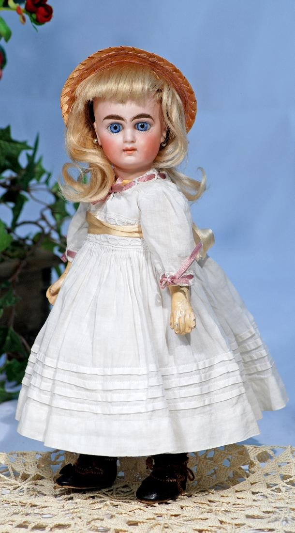 "162.  PETITE, SIZE 0"", SONNEBERG BISQUE DOLL BY WILLIAM"