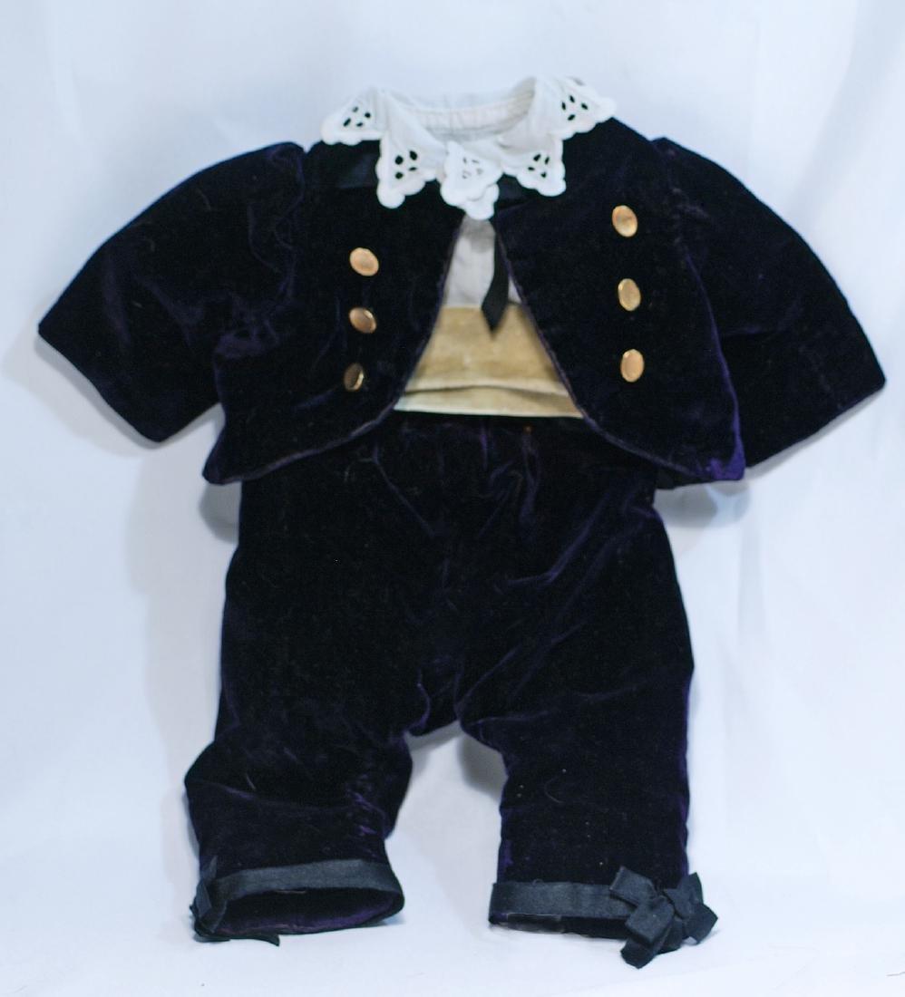 164.  COSTUME FOR BOY DOLL.  Black velvet pants and