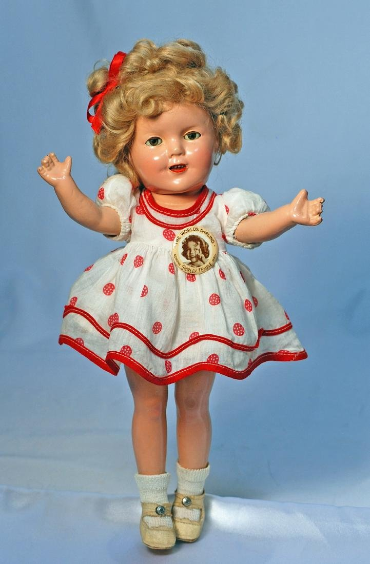 221-A.  COMPOSITION SHIRLEY TEMPLE IN RED AND WHITE