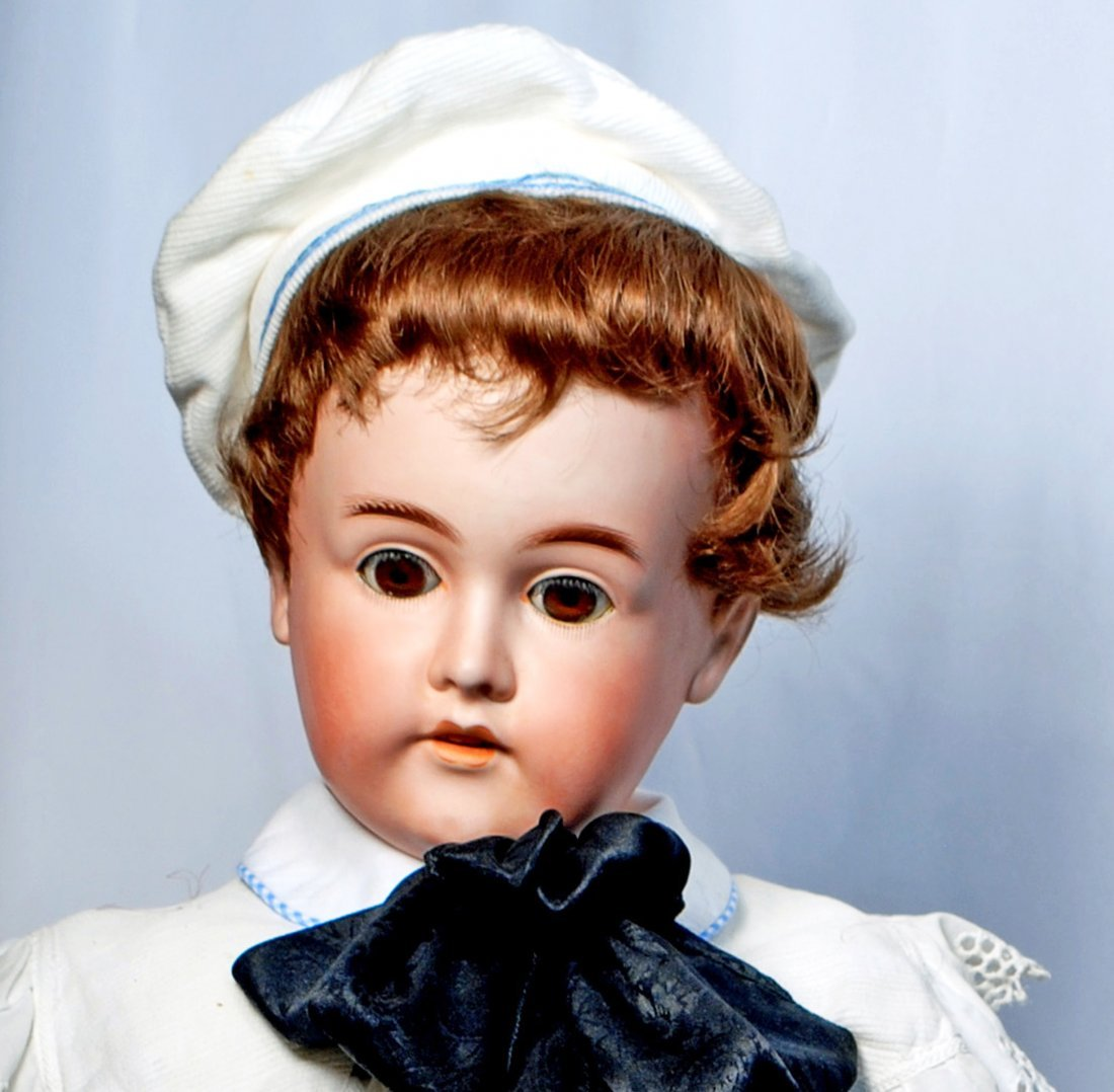 228-B.  LARGE GERMAN BISQUE DOLL BY KARL HARTMANN.