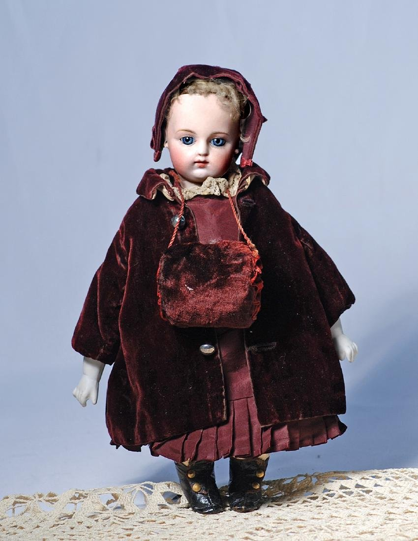 236.  FRENCH BISQUE BEBE F. G. 3 WITH RARE KID BODY AND