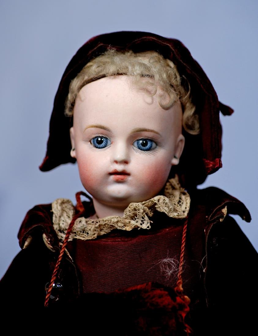 236.  FRENCH BISQUE BEBE F. G. 3 WITH RARE KID BODY AND - 2