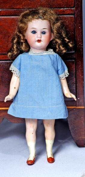 237-A.  GERMAN BISQUE FLAPPER-TYPE DOLL BY MARSEILLE.