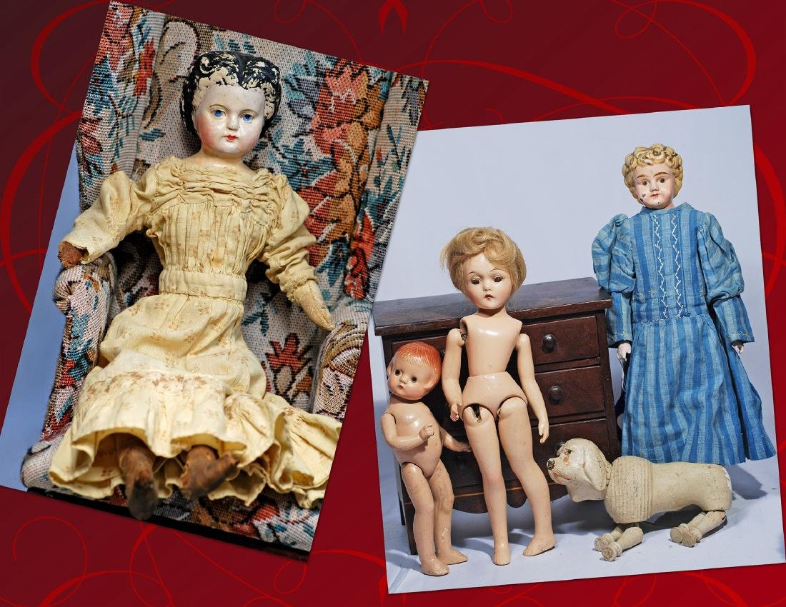 244.  GREINER PAPER MACHE DOLL WITH 1872 PATENT DATE