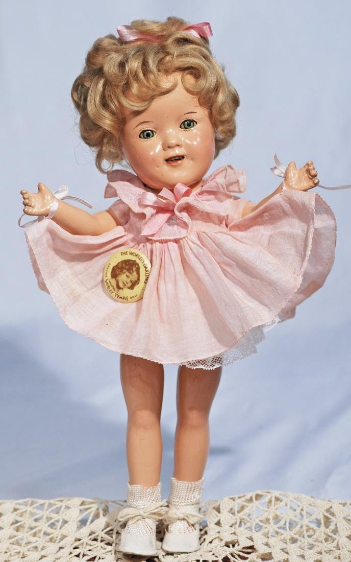255-A.  SIZE 11-INCH, COMPOSITION SHIRLEY TEMPLE.