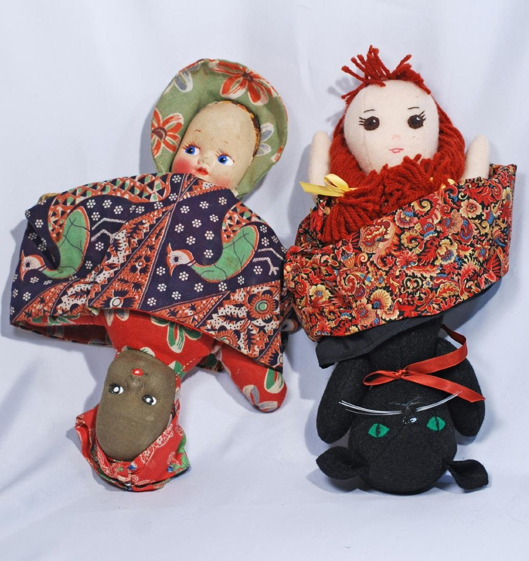 "271.  TWO CLOTH ""TOPSY TURVY"" DOLLS.  Includes 12"""