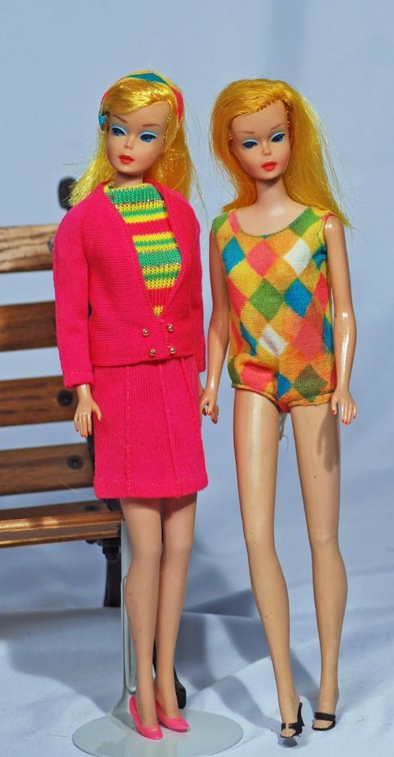 278.  TWO 1966 COLOR MAGIC BARBIE DOLLS.  Vinyl dolls