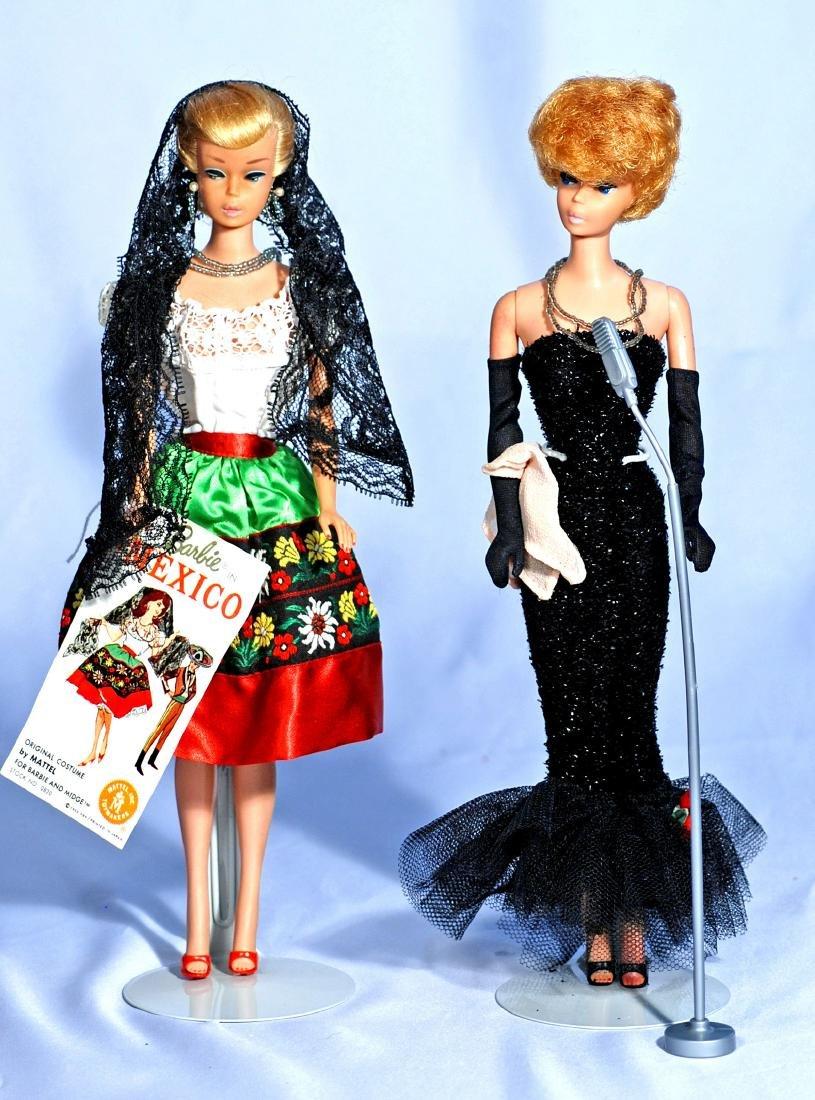 283.  TWO VINTAGE DRESSED BARBIE DOLLS. 1964 Swirl