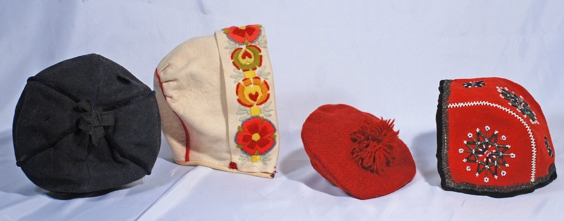 FOUR HATS FOR DOLLS