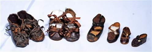 GROUP OF ANTIQUE DOLL SHOES