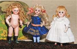 GERMAN ALL-BISQUE DOLL BY KLING. Marks: 94/ K in bell/