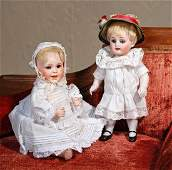 """PETITE FRENCH BISQUE """"LAUGHING JUMEAU"""" BABY. Marks:"""