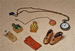 FASHION ACCESSORIES. Includes: Small enamel-backed