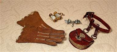 """FASHION DOLL ACCESSORIES. Includes: 1 ½"""" x 2"""" brown"""