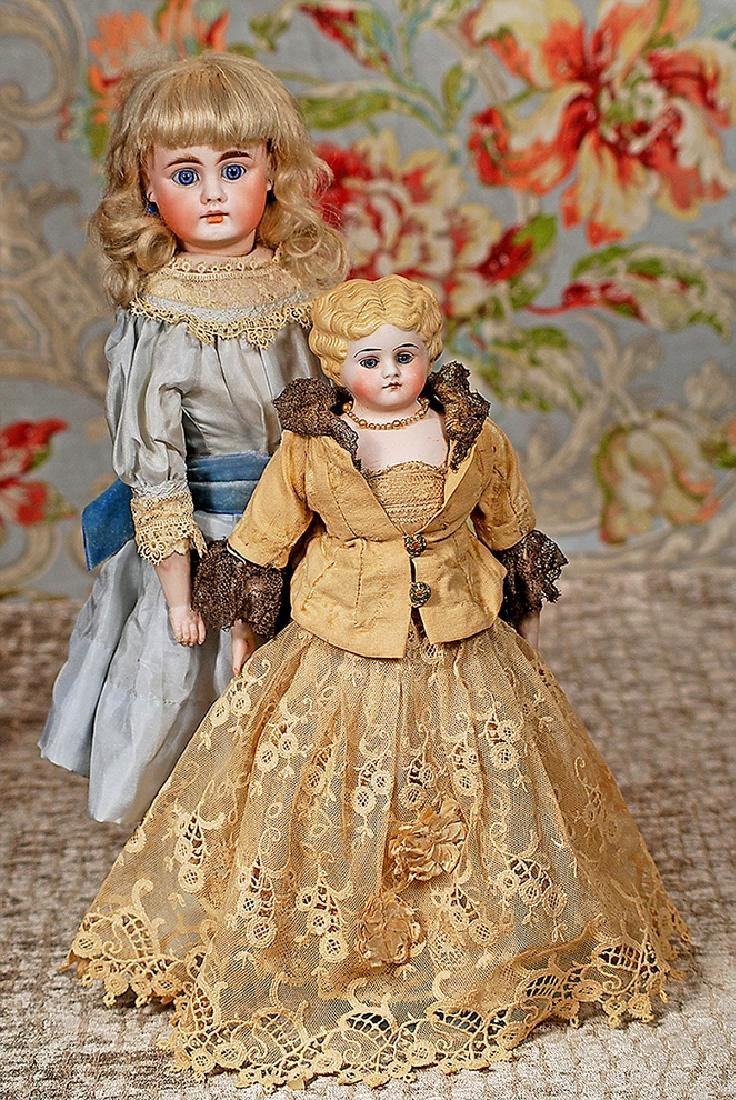 """GERMAN BISQUE PARIAN-TYPE DOLL BY KLING Marks: 135 12"""""""