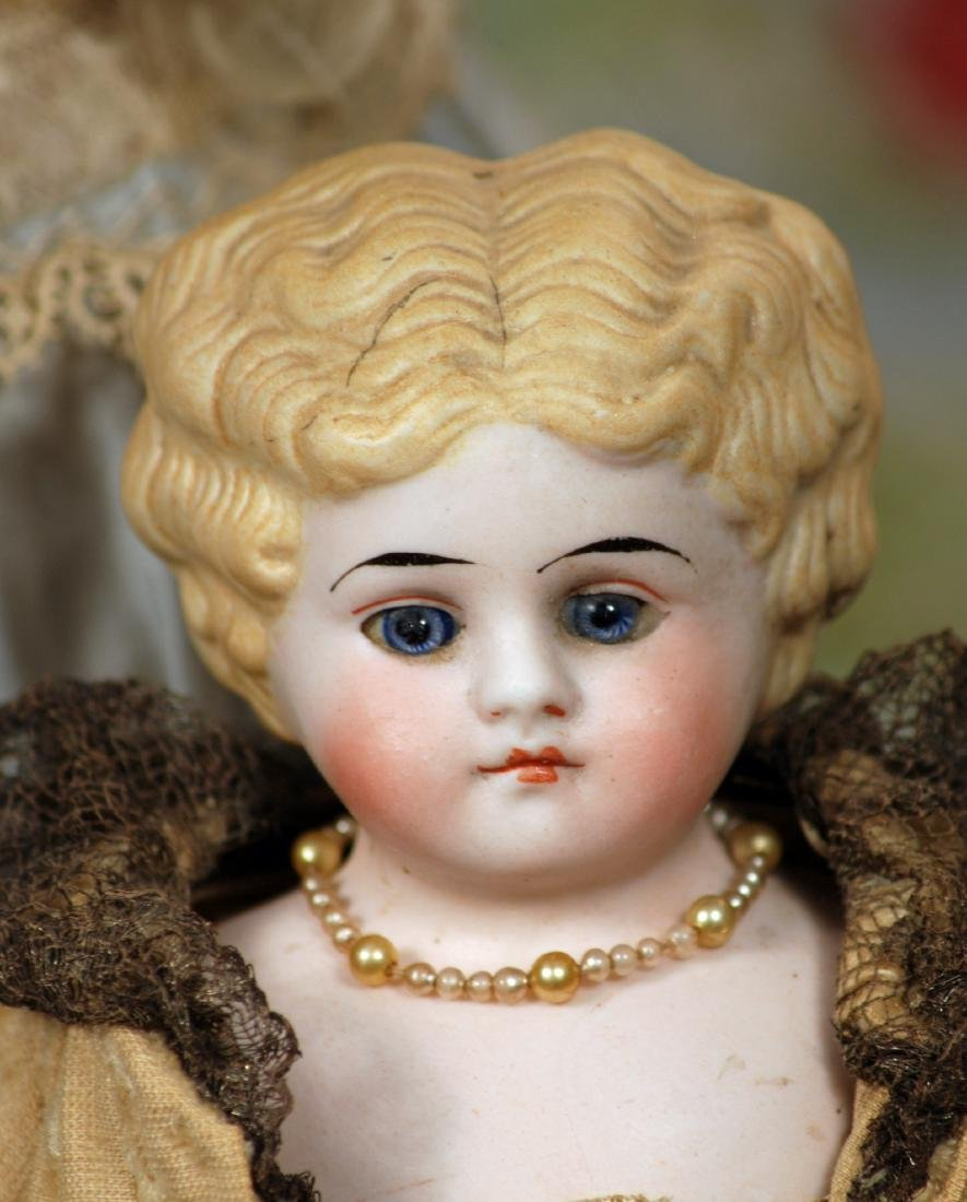 """GERMAN BISQUE PARIAN-TYPE DOLL BY KLING Marks: 135 12"""" - 2"""
