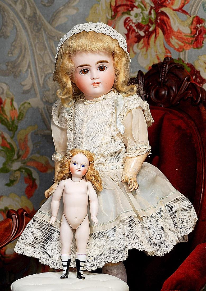 GERMAN ALL-BISQUE SLENDER DOLL WITH FOUR-STRAP BOOTINES