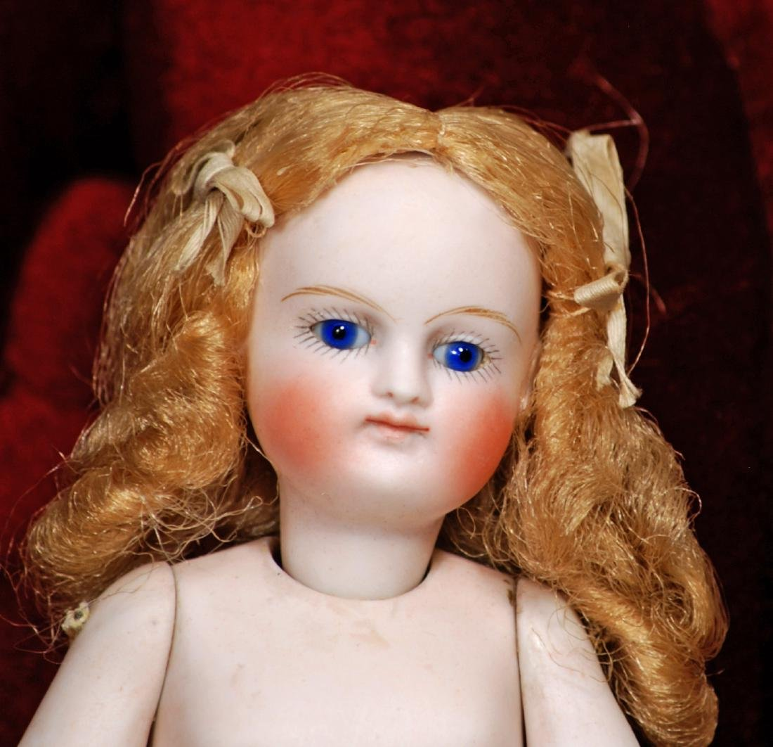 GERMAN ALL-BISQUE SLENDER DOLL WITH FOUR-STRAP BOOTINES - 3