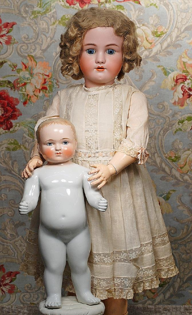 LARGE GERMAN BISQUE DOLL BY HANDWERCK Marks: Germany,