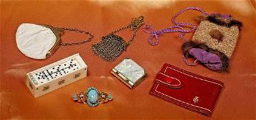 """GROUP OF ACCESSORIES FOR FASHION DOLLS. Includes: 2 ½"""""""