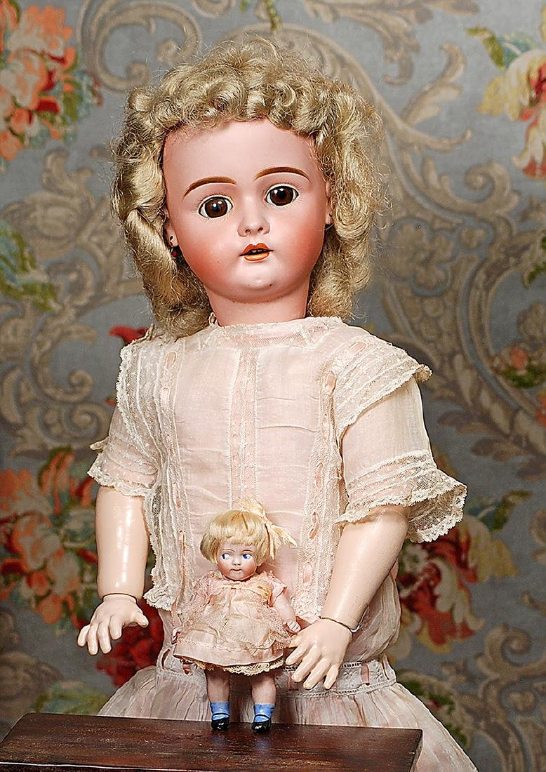 GERMAN BISQUE DOLL BY ALOLPH WISLIZENUS Marks: A.W. 1