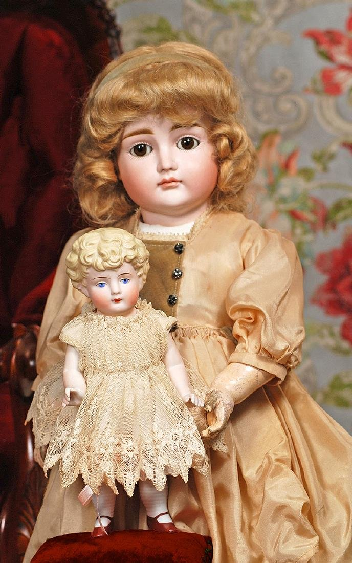 """GERMAN ALL-BISQUE DOLL Marks: None 8 ½"""" All-bisque with"""