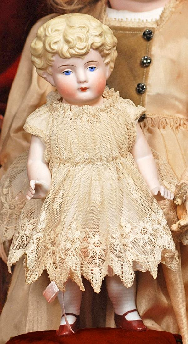 """GERMAN ALL-BISQUE DOLL Marks: None 8 ½"""" All-bisque with - 2"""