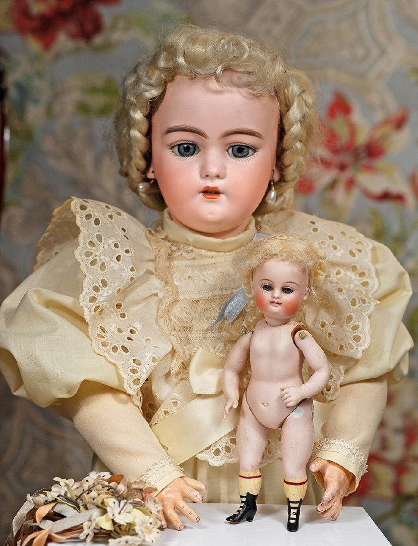 GERMAN ALL-BISQUE DOLL BY KESTNER WITH SWIVEL NECK AND