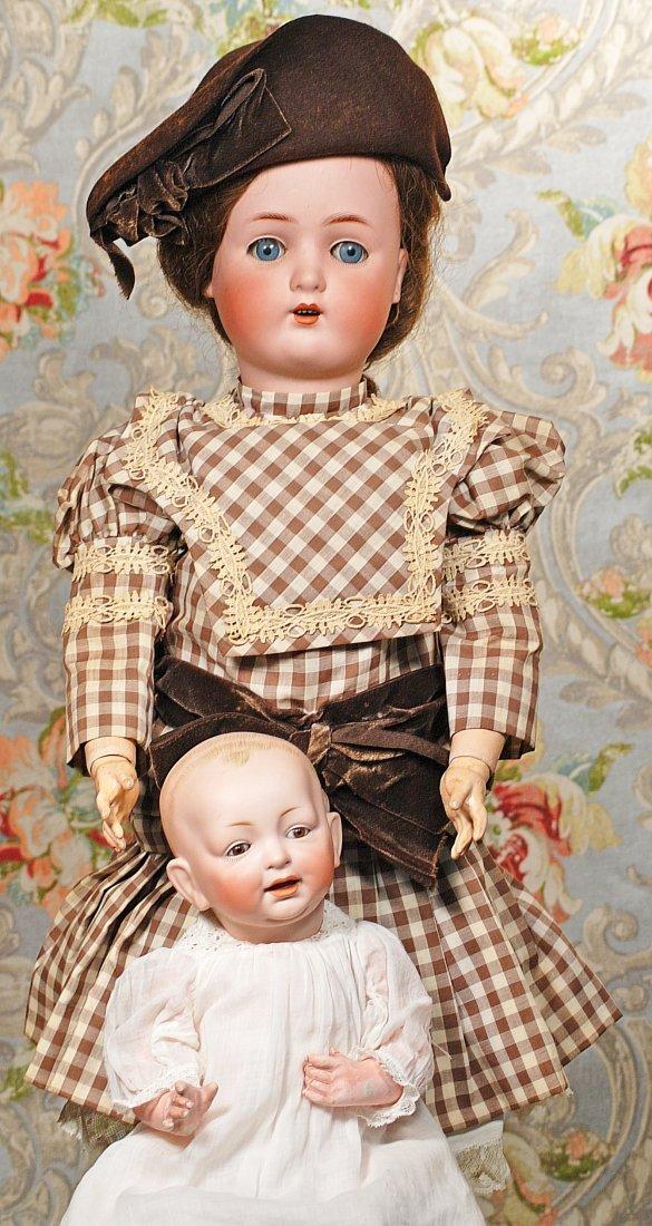 """GERMAN BISQUE BROWN-EYED BABY BY KESTNER Marks: 11 15"""""""