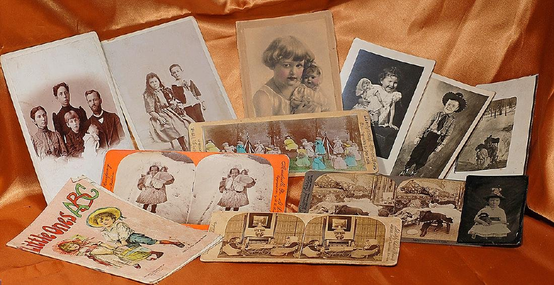 GROUP OF ANTIQUE PHOTOS, TINTYPES, AND STEREOVIEW CARDS