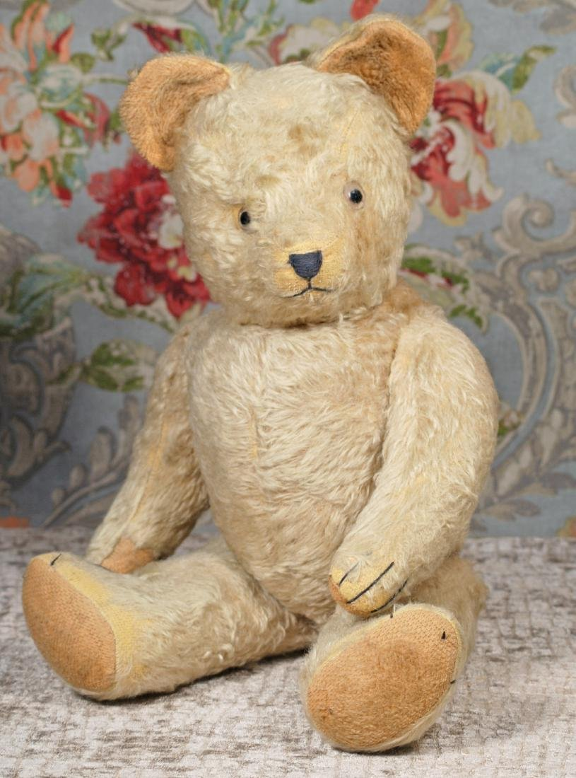 "LARGE WHITE MOHAIR TEDDY BEAR, 20"" White mohair fur,"