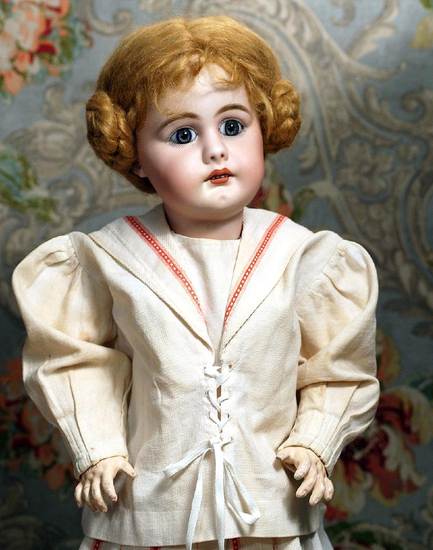 GERMAN BISQUE DOLL, 949, BY SIMON & HALBIG. Marks: S 14 - 2