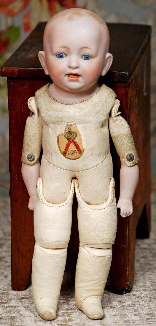 """GERMAN BISQUE TODDLER ON RARE KID BODY 12 ½"""" Solid-dome - 2"""