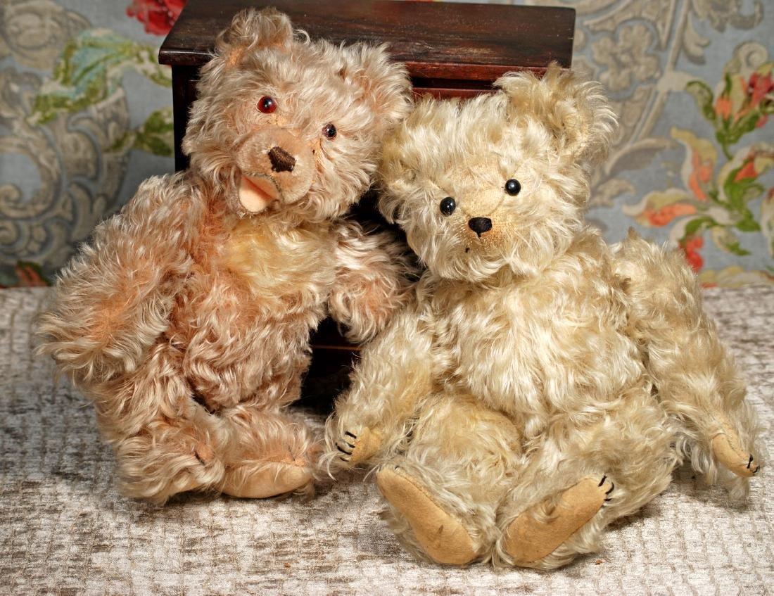 "TWO GERMAN MOHAIR TEDDY BEARS 12""-13"" Each has long - 2"