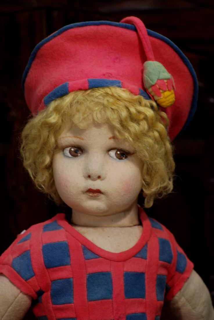 LARGE ITALIAN CLOTH LENCI DOLL WITH VERY POUTY FACE - 2