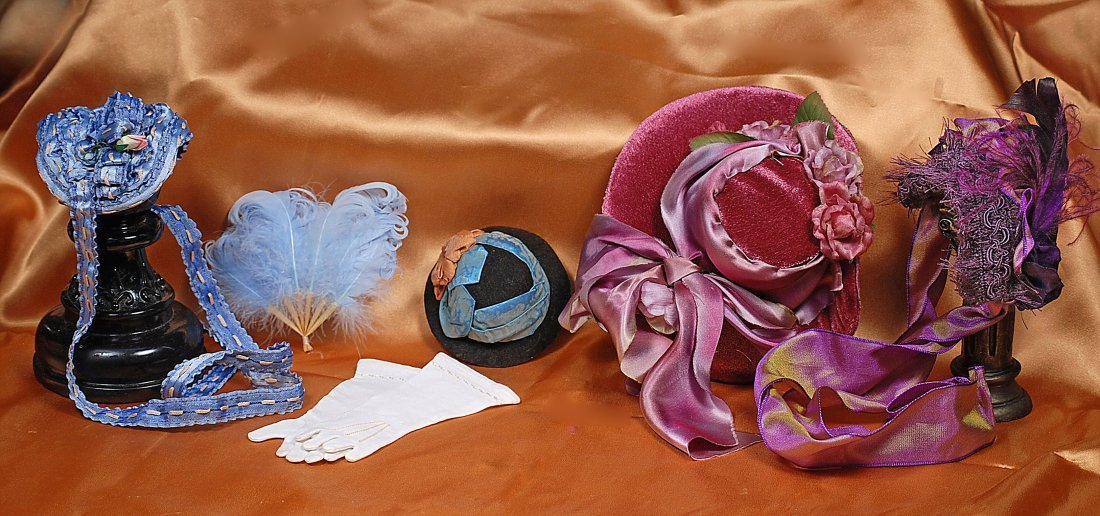 DOLL BONNETS AND ACCESSORIES