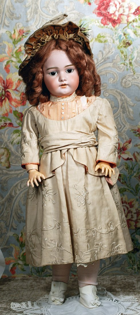 LARGE GERMAN BISQUE CHILD DOLL BY SIMON & HALBIG.