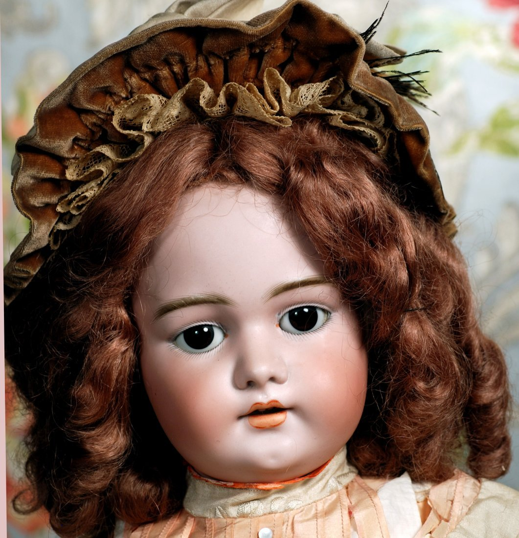 LARGE GERMAN BISQUE CHILD DOLL BY SIMON & HALBIG. - 2