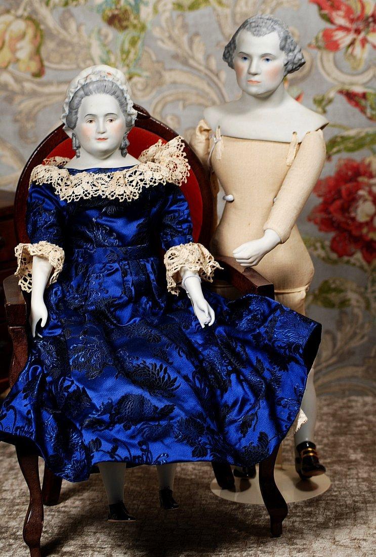 """BISQUE PORTRAIT DOLLS """"GEORGE AND MARTHA WASHINGTON"""""""